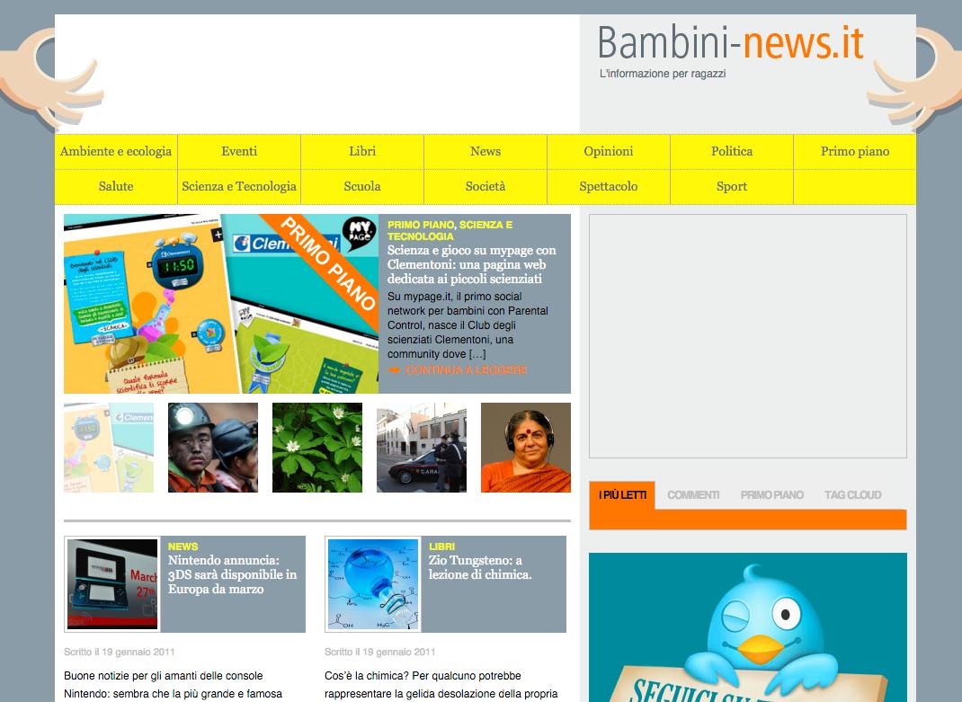 Bambini news: informazione per ragazzi news foto e video